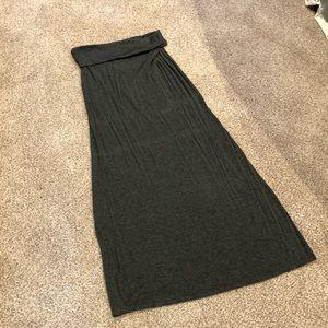 MAKE OFFER- Dark grey maxi skirt